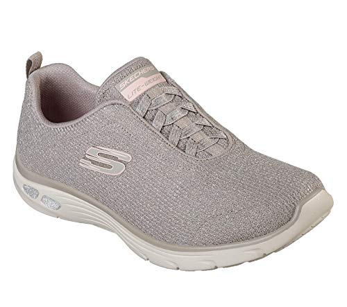 Bright Dlux Skechers Trainers 12822 Empire Burn Taupe wE1vIq