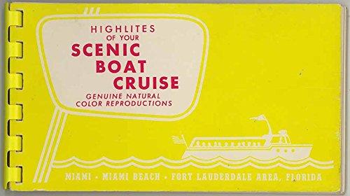 Scenic Boat Cruise - Ft. Lauderdale Florida - Souvenir Color Photo Album - Plastic Comb Binding - 1960