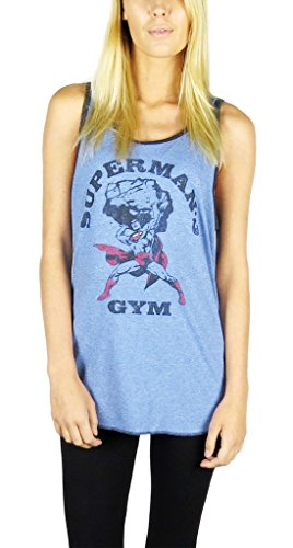 Superman+tank+tops Products : DC Comics Superman Tank Top Unisex Heather Blue