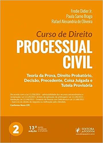 9d0438bf58 Curso de Direito Processual Civil - 9788544218440 - Livros na Amazon Brasil