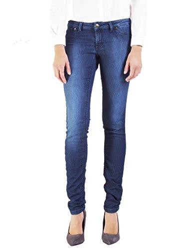 Scuro Jeans Lavaggio Vestibilità Carrera Donna 7880985a Blu Vita Bassa Slim Per 001 xwS7zP