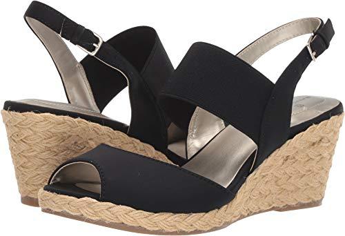 Bandolino Womens Himeka Black Multi Fabric 6 M (Studio Womens Platform Sandals Black)