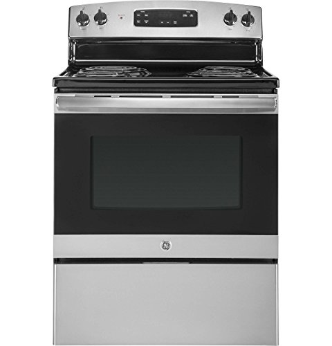 GE JBS30RKSS 30 Inch Freestanding Electric Range with 4 Coil Elements, 5 cu. ft. Primary Oven Capacity, in Stainless Steel