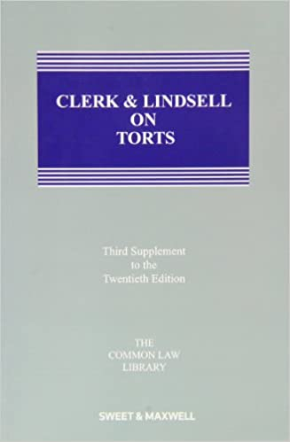 Read Clerk & Lindsell on Torts: 3rd Supplement PDF, azw (Kindle)