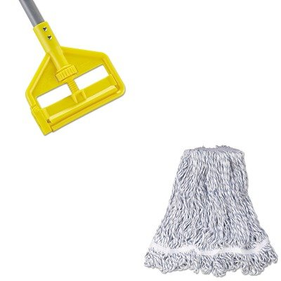 KITRCPA412RCPH146 - Value Kit - Rubbermaid Web Foot Finish Mop (RCPA412) and Rubbermaid Invader Fiberglass Side-Gate Wet-Mop Handle (RCPH146) by Rubbermaid