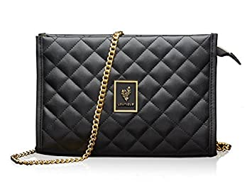 c5acc1d5a058 Amazon.com  Younique 2018 Black Quilted Purse Cosmetic Bag Clutch or ...