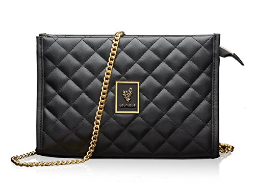 Younique 2018 Black Quilted Purse/Cosmetic Bag Clutch or Sho