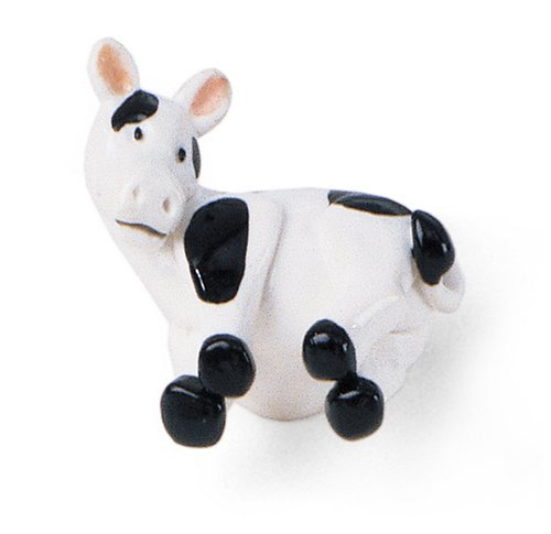 Laurey 83021 Whim-Z Black Spotted Cow Knob -