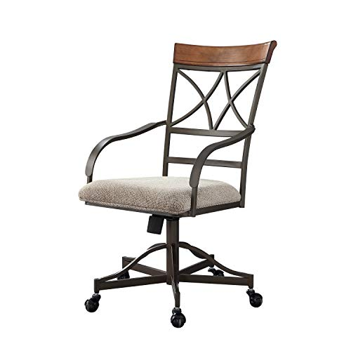 - Powell Hamilton Swivel-Tilt Dining Chair on Casters