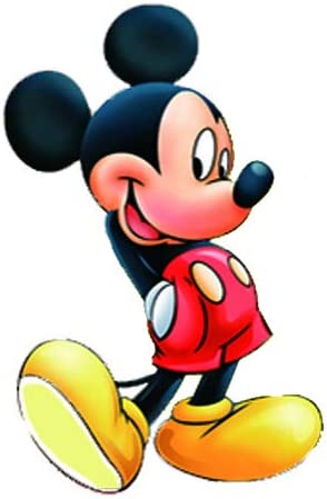 yaunor Mickey Decal Cartoon Mickey Mouse Head Shape Wall Sticker for Kids Baby Rooms Nursery Decoration Poster Child Gifts
