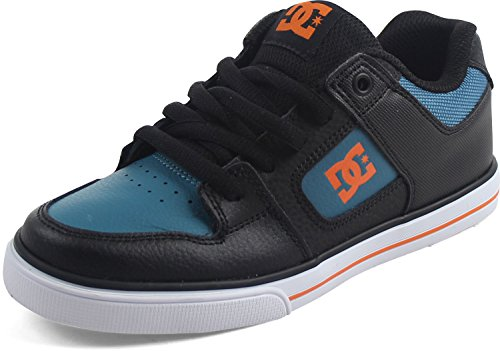 DC Shoes Boys Pure Traditional Lace Skate Shoe Black/Orange/Blue Size 6.5 ()