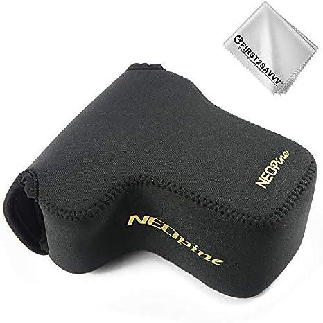Negro Funda Cámara Reflex Neopreno Protectora para Sony A6400 ...