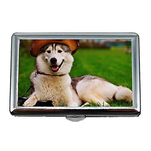 Cigarette Case Lightweight,Golden Retriever Puppy Dog Baby Dog,Credit Business Card Holder Case Storage Box