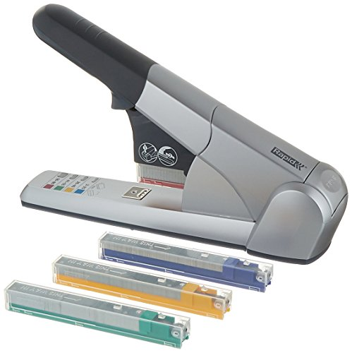 - Rapid 02892 Heavy Duty Cartridge Stapler, 80 Sheet Capacity, Silver