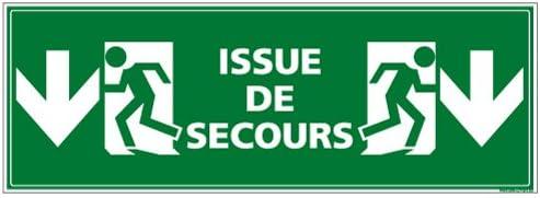 Protection Anti-UV Issue de Secours Vers le Bas Dimensions 350 x 125 mm Adh/ésif