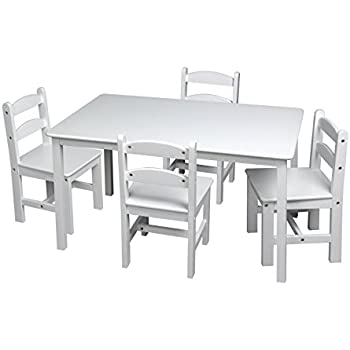 Amazon Com Gift Mark 3009w White Rectangle Square Table W