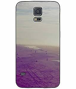 Dark Deserted Beach TPU RUBBER SILICONE Phone Case Back Cover Samsung Galaxy S5 I9600