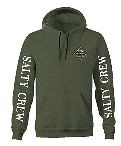 (Salty Crew Tippet Camo Hood Fleece (XX-Large, Army Heather))