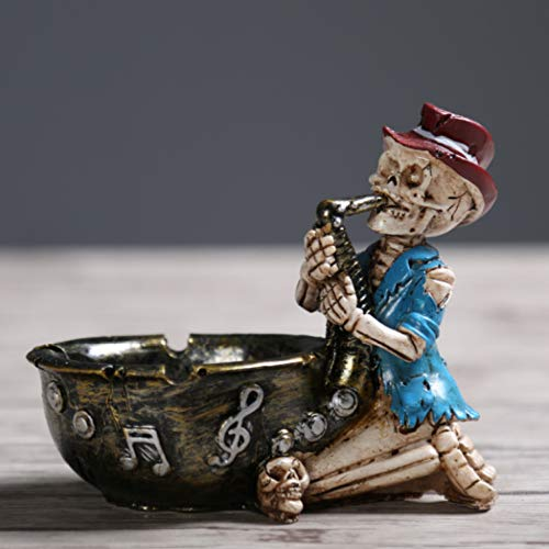 YOTATO Scary Halloween Character Skeleton Ashtray Skull Children Fun Ashtray Children Tricky Gifts Home Decorations Crafts -