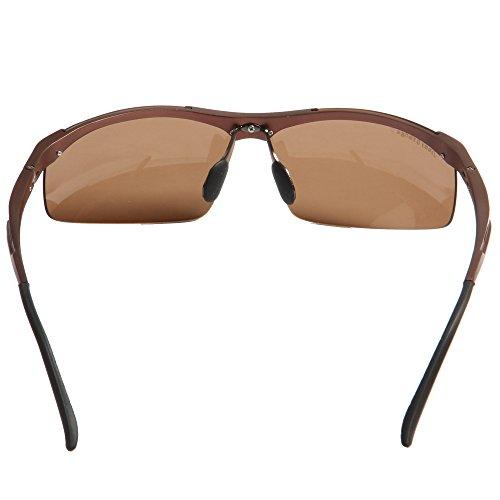 Calidad JO671 de Aluminio Aire Alta Orange de Mujeres marco Libre de deSol marrón Polarizado al lentes Magnesio Sol negros Conducción Hombres Ciclismo Gafas Gafas Jimmy PHRqwfq5