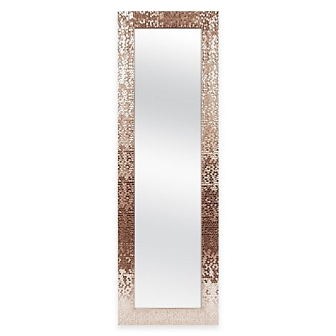 Mirror 53-Inch x 17-Inch Rectangular Sequin Over-the-Door - Magazine Review Gq