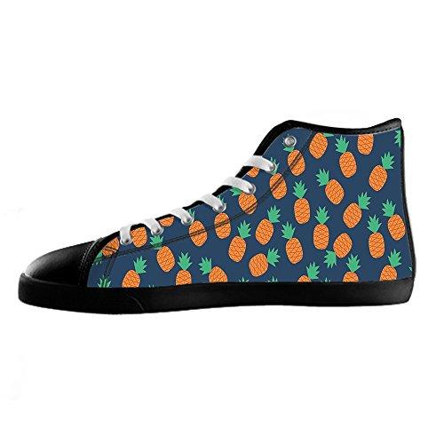 Custom Fumetto di ananas Womens Canvas shoes I lacci delle scarpe scarpe scarpe da ginnastica Alto tetto Venta Amazon Gran Descuento En Línea Descuento Del Envío Auténtica D55Sf5BjV1