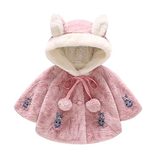 Toddler Baby Girls Boys Clothes Sets for 6 Months-3T,Long Sleeve Autumn Winter Hooded Rabbit Thick Coat Warm Shirt Outfit (12-18Months, Hot Pink)