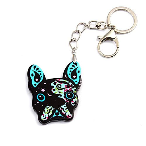 (PAPPET Bulldog Keychain Trendy Style French Bulldog Key Chain Colorful Bulldogs Car Keyring Puppy Handbag Charm Pendant Backpack Accessories Pet Jewelry Valentines Birthday Gifts For Dog Lover (Green))