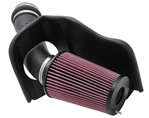 K&N Cold Air Intake Kit with Washable Air Filter:  1999-2003 Ford (Excursion, F250 Super Duty, F350 Super Duty, F450 Super Duty, F550 Super Duty) Black HDPE Tube with Red Oiled Filter, 57-2530 (2000 Ford F250 Cold Air Intake)
