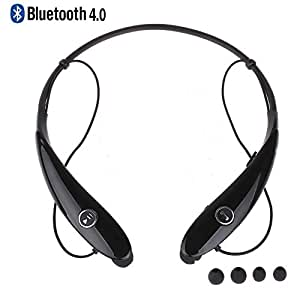 Bluetooth Headphones, Bluebits Wireless Bluetooth Headphones V4.0 Lightweight Stereo Sports Headset In-Ear Sweat proof Earbuds with Mic/Apt-X Hands free Calling for iPhone and Android Smart Phones