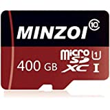 MINZOI 400GB Micro SD SDXC TF Flash Memory Card Class 10 for Cell Phone Camera Laptop + Free Adapter