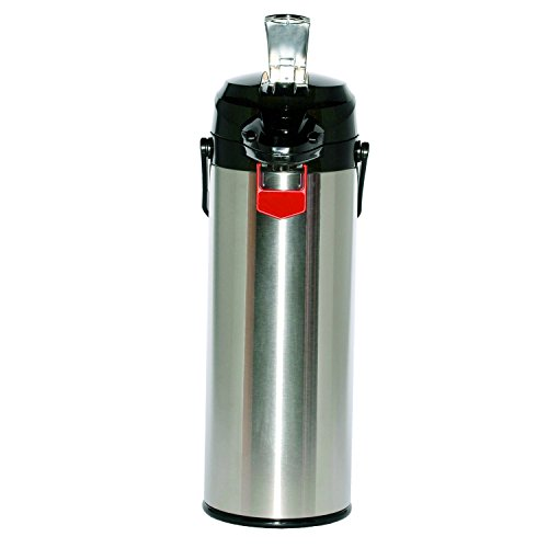 Service Ideas ENALG30S Airpot with Lever, Glass and Stainless Steel, NSF Listed, 3.0 L by Service Ideas