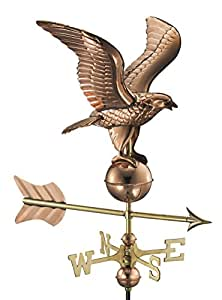 Good Directions Eagle Garden Weathervane with Garden Pole, Pure Copper