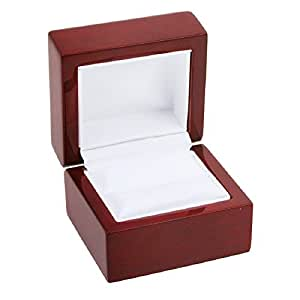 Amazon.com: Rosewood Stained Ring Gift Box Jewelry Display
