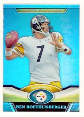 2011 Pittsburgh Steelers Super Bowl - Ben Roethlisberger football card (Pittsburgh Steelers Super Bowl Champion) 2011 Topps Platinum #74