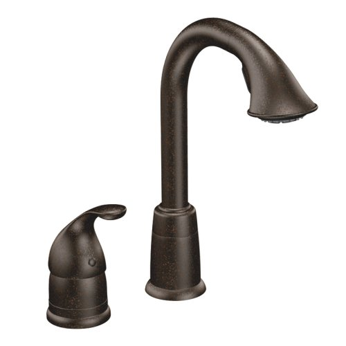 - Moen 5955ORB Camerist One-Handle High Arc Pulldown Bar Faucet, Oil Rubbed Bronze