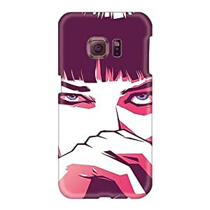 Shock Absorbent Cell-phone Hard Cover For Samsung Galaxy S6 (slC646AskH) Allow Personal Design Trendy Pulp Fiction Mia Pictures