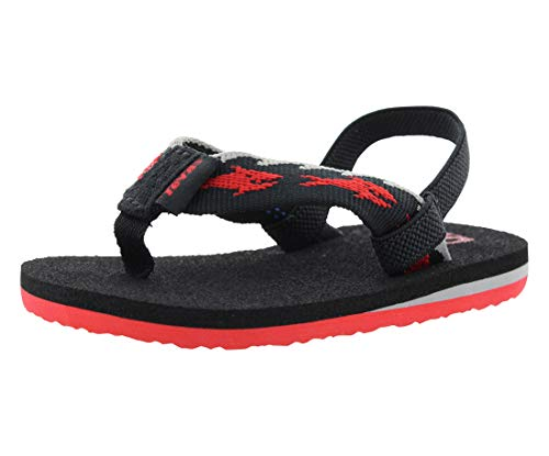 Teva Mush II Fashion Flip Flop Sandal , Sharks/Black/Red-T,