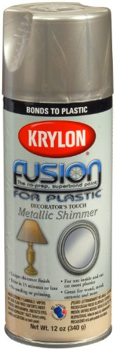 (Krylon K02338007 Fusion For Plastic Metallic Shimmer Spray Paint, Nickel Shimmer, 12 Ounce)