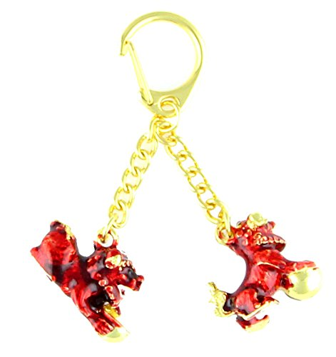 (Feng Shui Import Bejeweled Tzi Chi Kau Red Dog Amulet for Table or Wall )