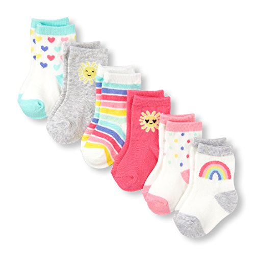 The Children's Place Baby Girls Socks, Geraniumpink 01905, (Childrens Place Girls Flower)