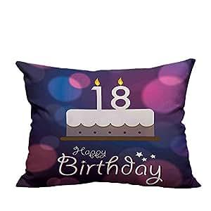 Amazon.com: YouXianHome - Funda de almohada con velas y ...