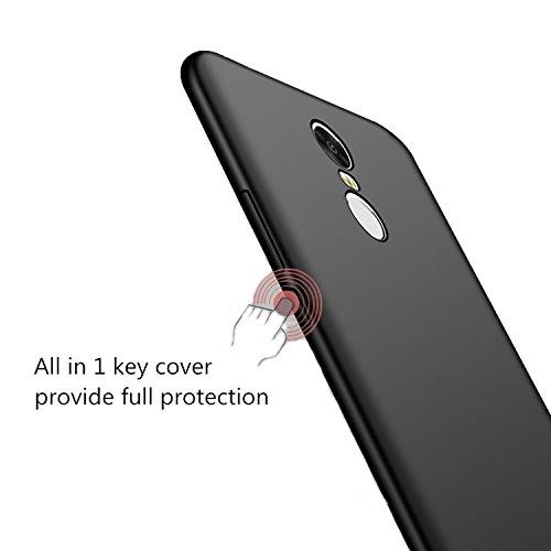 Xiaomi Mi4 Mi 4 Funda + Acollador, Flexible Suave Silicona Gel Carcasa, Ultra Delgado y Ligero Protectora Completa TPU Goma Caso, Anti-Arañazos Anti-Huellas Dactilares Caja - Azul Rojo