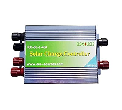 ECO-WORTHY 45A PWM Solar Charge Controller Off Grid 12V/24V Battery Regulator