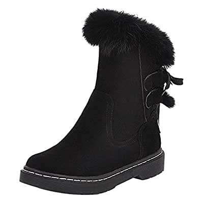 MisaKinsa Women Casual High Top Boots Lace Up High Top Boots Round Toe Comfort Boots Black Size 34 Asian