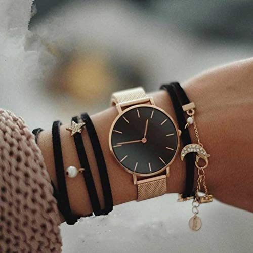 Pocket Watch 14k Stainless Steel - Fashion Women Watches Stainless Steel Strap Quartz Wrist Watch Luxury Simple Style Designed Watches Women's Clock