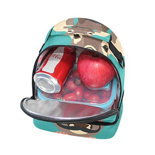 hombro de el aislada almuerzo la ajustable correa Bolsa con para de para pincnic Alinlo escuela 4zOqfxwUz