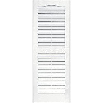 Vantage 0114039123 14X39 Louver Arch Shutter/Pair 123, White by The TAPCO Group - DROPSHIP