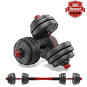 Adjustable Weights Dumbbells Set,Adjustable Dumbbell Free Weights Dumbbells Set for Men and Women with Connecting Rod…