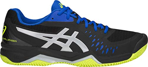 (ASICS Gel-Challenger 12 Clay Men's Tennis Shoe, Black/Silver, 9 D US )
